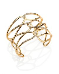 Alexis Bittar | Metallic Miss Havisham Liquid Crystal Barbed Cuff Bracelet/Goldtone | Lyst