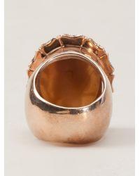 Amedeo - Metallic Owl Ring - Lyst