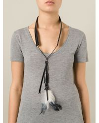Ann Demeulemeester - Black Feather Necklace - Lyst