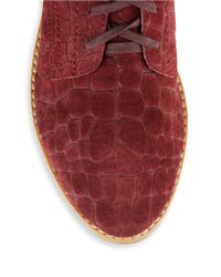 Matt Bernson | Red Langley Suede Oxfords | Lyst