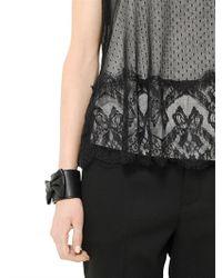RED Valentino - Black Bow Soft Leather Bracelet - Lyst