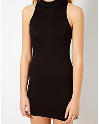 Love | Black Midi Bodycon Dress | Lyst