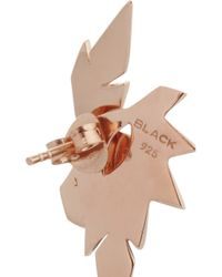 Maria Black - Metallic Wing Rose Gold-Plated Earrings - Lyst