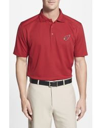 Cutter & Buck | Red 'arizona Cardinals - Genre' Drytec Moisture Wicking Polo for Men | Lyst
