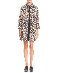 Marc By Marc Jacobs - Brown Leopard Print Cotton Coat - Lyst