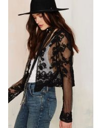Nasty Gal - Multicolor Four To The Floral Lace Cardigan - Lyst
