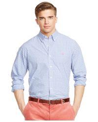 Polo Ralph Lauren | Blue Checked Poplin Shirt for Men | Lyst