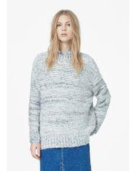 Mango | Gray Flecked Wool Sweater | Lyst