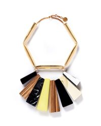 Stella McCartney - Multicolor Mixed Stone Brass Necklace - Lyst