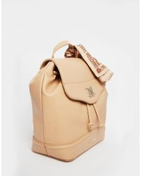 Love Moschino - Natural Backpack With Scarf - Lyst