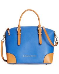 Dooney & Bourke - Blue Claremont Domed Satchel - Lyst