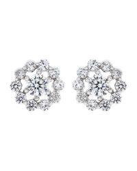 Carat* - Metallic Flora Stud Earrings - Lyst