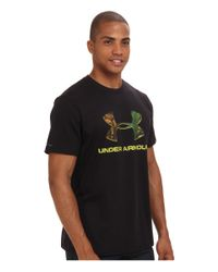 Under Armour - Black Ua Camo Fill Logo Tee for Men - Lyst