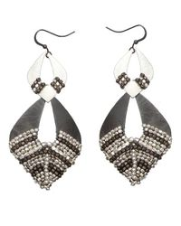 Nakamol | Multicolor Kauri Earrings-silver/gun | Lyst