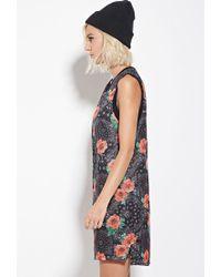 Forever 21 - Black Eric + Lani Rose Print Mesh Dress - Lyst