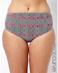ASOS - Multicolor Exclusive Bikini Pant In Magic Geo Print - Lyst