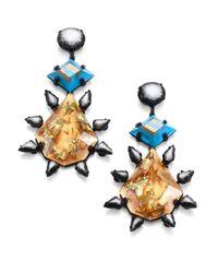 DANNIJO - Multicolor Celeste Crystal Drop Earrings - Lyst