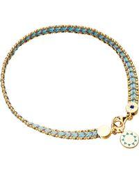 Astley Clarke | Blue Agate Double Happiness Biography Bracelet | Lyst
