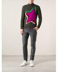 Paul Smith - Green Star Motif Sweater for Men - Lyst