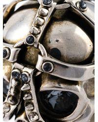 Alexander McQueen | Metallic Harness Skull Ring for Men | Lyst