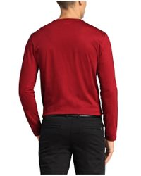 BOSS Green Red Long-sleeve Top 'togn 1' In Cotton for men