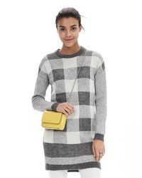 Banana Republic | Multicolor Buffalo Check Sweater Dress | Lyst