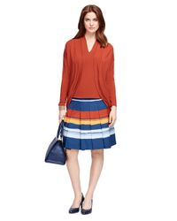 Brooks Brothers | Orange Jersey Knit Bolero Cardigan | Lyst