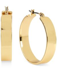 Kenneth Cole | Metallic Gold-tone Wide Hoop Earrings | Lyst