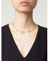 Vibe Harsløf - Metallic Single Pearl Necklace - Lyst