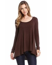 Karen Kane - Brown Seam Detail Sweater - Lyst