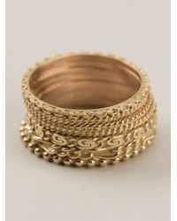 Wouters & Hendrix - Yellow Set Of 7 Rings - Lyst