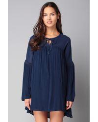 Volcom | Blue Short Dress | Lyst