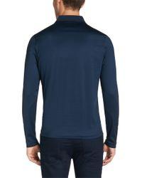BOSS Blue Regular-fit Long-sleeved Polo Shirt In Cotton: 'prato 28' for men