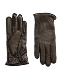 UGG | Brown Wool-lined Leather Gloves for Men | Lyst