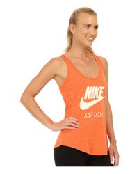 Nike | Orange Gym Vintage Tank Top | Lyst