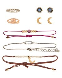 Aéropostale | Multicolor Cosmic Rings, Bracelets And Stud Earrings 7-pack | Lyst
