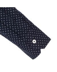 Paul Smith - Blue Men's Tailored-fit Navy 'mini Floral' Print Shirt for Men - Lyst