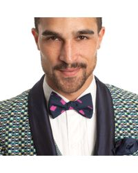 Mr Turk - Blue High Rise Lights Bow-tie for Men - Lyst