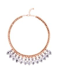 Ted Baker - Pink Emari Crystal Chain Necklace - Lyst