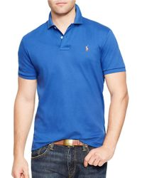 Polo Ralph Lauren | Blue Pima Polo Shirt for Men | Lyst