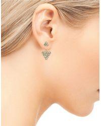 Sam Edelman   Metallic Stone Street Cluster Ear Jacket And Stud Earrings Set   Lyst