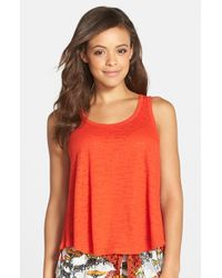 Kensie | Red Burnout Tank | Lyst
