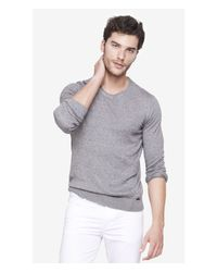 Express | Gray Nep Knit Crew Neck Sweater for Men | Lyst