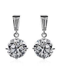 Carat* | Metallic 2ct Brilliant Round Drop Earrings | Lyst