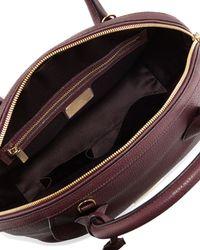 Ferragamo - Black Fiamma Ornament Lock Satchel Bag for Men - Lyst