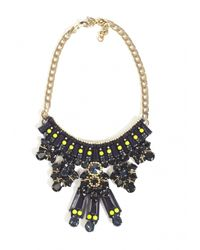 Matthew Williamson | Black Clustered Jewel Necklace | Lyst