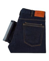 Paul Smith | Blue Men's Standard-fit Red-cast Flat Vintage Indigo Jeans for Men | Lyst