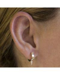 Anne Sisteron | Pink 14kt Rose Gold Diamond Punk Rock Huggie Earrings | Lyst