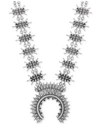 Lucky Brand | Silver-tone Textured Metallic Necklace | Lyst