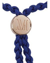 Monica Vinader - Blue Fiji Wisdom 18Kt Rose Gold-Plated Bracelet - Lyst